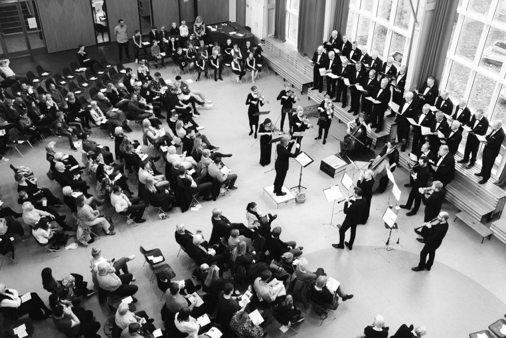 Den Danske Sinfonietta, koncert på Kirkebjerg Skole
